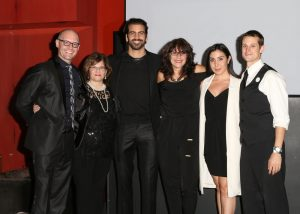 LOS ANGELES, CA - NOVEMBER 29: (L-R) Ramon Norrod, Sheri Fainha, model Nyle DiMarco, Donna DiMarco, Stacey Ruiz and Robert Siebert attend An Evening with Nyle DiMarco at the Sofitel Los Angeles At Beverly Hills on November 29, 2016 in Los Angeles, California. (Photo by Tasia Wells/WireImage)