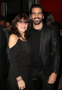 LOS ANGELES, CA - NOVEMBER 29: Model Nyle DiMarco (R) and mother Donna DiMarco attend An Evening with Nyle DiMarco at the Sofitel Los Angeles At Beverly Hills on November 29, 2016 in Los Angeles, California. (Photo by Tasia Wells/WireImage)