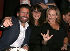 LOS ANGELES, CA - NOVEMBER 29: Actress Marlee Matlin (R), Donna DiMarco (C), and actor John Maucere (L) attend An Evening with Nyle DiMarco at the Sofitel Los Angeles At Beverly Hills on November 29, 2016 in Los Angeles, California. (Photo by Tasia Wells/WireImage)