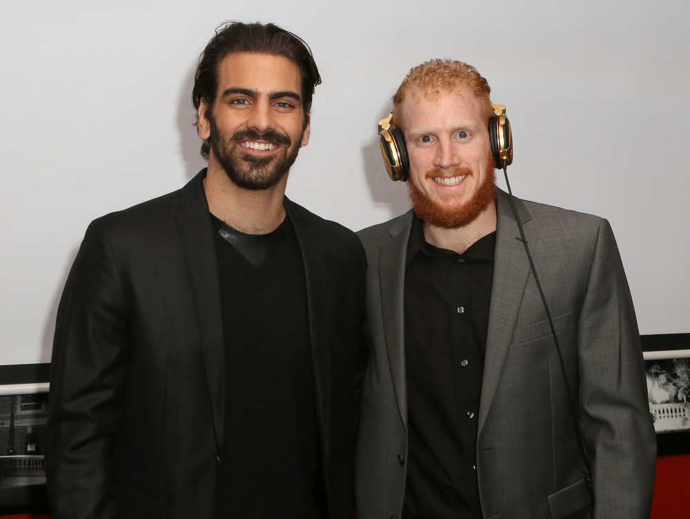 LOS ANGELES, CA - NOVEMBER 29:  Model Nyle DiMarco (L) and brother DJ Nico DiMarco attend An Evening with Nyle DiMarco at the Sofitel Los Angeles At Beverly Hills on November 29, 2016 in Los Angeles, California.  (Photo by Tasia Wells/WireImage)