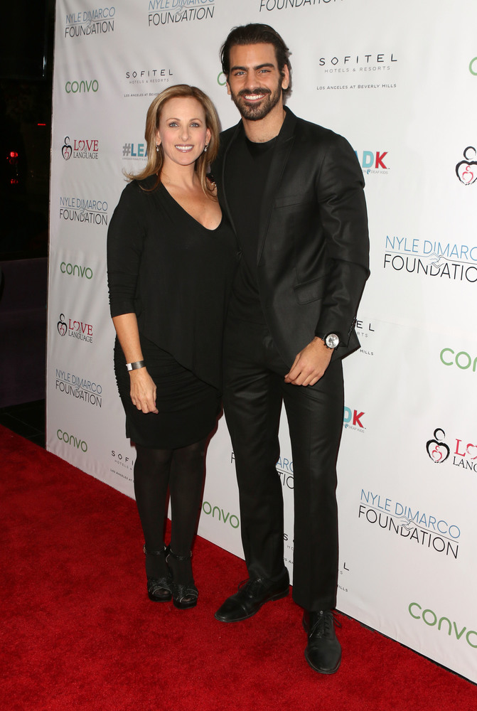 LOS ANGELES, CA - NOVEMBER 29:  Actress Marlee Matlin (L) and model Nyle DiMarco attend An Evening with Nyle DiMarco at the Sofitel Los Angeles At Beverly Hills on November 29, 2016 in Los Angeles, California.  (Photo by Tasia Wells/WireImage)