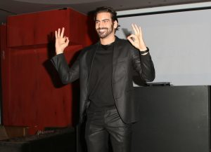 LOS ANGELES, CA - NOVEMBER 29: Model Nyle DiMarco speaks onstage at An Evening with Nyle DiMarco at the Sofitel Los Angeles At Beverly Hills on November 29, 2016 in Los Angeles, California. (Photo by Tasia Wells/WireImage)