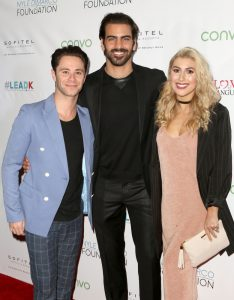 LOS ANGELES, CA - NOVEMBER 29: (L-R) Dancer Emma Slater, model Nyle DiMarco and dancer Sasha Farber attend An Evening with Nyle DiMarco at the Sofitel Los Angeles At Beverly Hills on November 29, 2016 in Los Angeles, California. (Photo by Tasia Wells/WireImage)
