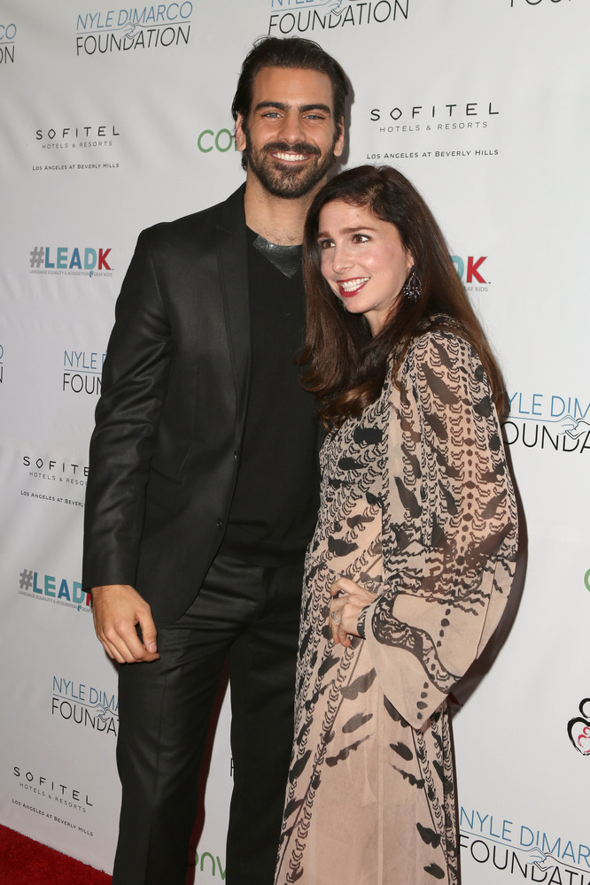 LOS ANGELES, CA - NOVEMBER 29:  Model Nyle DiMarco (L) and actress Shoshannah Stern attend An Evening with Nyle DiMarco at the Sofitel Los Angeles At Beverly Hills on November 29, 2016 in Los Angeles, California.  (Photo by Tasia Wells/WireImage)
