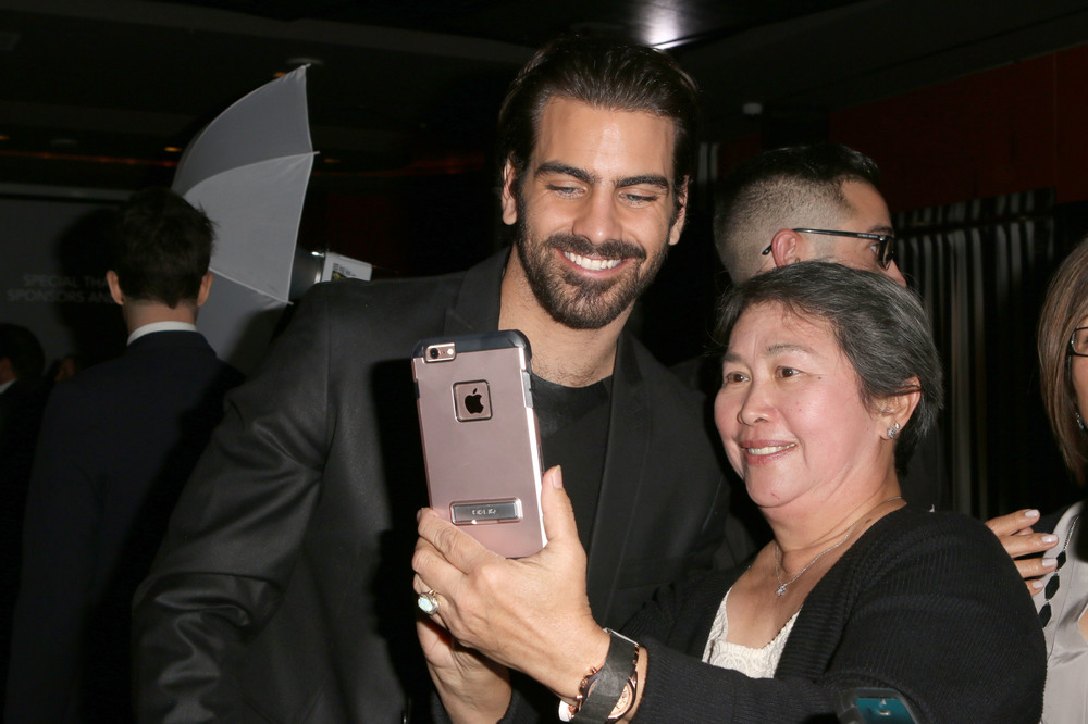 LOS ANGELES, CA - NOVEMBER 29:  Model Nyle DiMarco (L) attends An Evening with Nyle DiMarco at the Sofitel Los Angeles At Beverly Hills on November 29, 2016 in Los Angeles, California.  (Photo by Tasia Wells/WireImage)