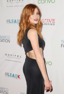 LOS ANGELES, CA - NOVEMBER 29: Actress Katherine McNamara attends An Evening with Nyle DiMarco at the Sofitel Los Angeles At Beverly Hills on November 29, 2016 in Los Angeles, California. (Photo by Tasia Wells/WireImage)