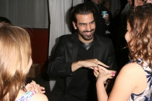 LOS ANGELES, CA - NOVEMBER 29: Model Nyle DiMarco (C) attends An Evening with Nyle DiMarco at the Sofitel Los Angeles At Beverly Hills on November 29, 2016 in Los Angeles, California. (Photo by Tasia Wells/WireImage)