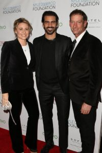 LOS ANGELES, CA - NOVEMBER 29: Deanne Bray (L), Nyle DiMarco (C), and Troy Kotsur (R) attend An Evening with Nyle DiMarco at the Sofitel Los Angeles At Beverly Hills on November 29, 2016 in Los Angeles, California. (Photo by Tasia Wells/WireImage)